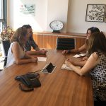 Journal Associate Editor Mary Markos visited the Ruderman Family Foundation's office in Rehovot, Israel, to interview program officers Limor Rubin and Galia Granot.