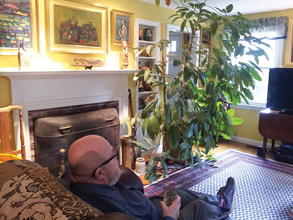 Art collector Walter Manninen is surrounded by fine art anyplace he sits in his small Cape Ann style home. Many of the pieces are by husband and wife team Theresa Bernstein and William Meyerwitz, part of a collection of 400 works of art he has donated to Endicott College.