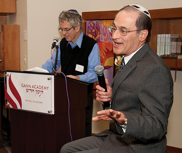 A special event was held honoring Robert Housman, right, as the founder of Yad Chessed, an organization that helps Jewish families and individuals in need, on November 11, 2012.