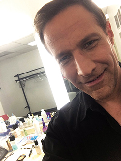 A selfie of Brickman taken in his dressing room at a recent concert in Baltimore that he posted on Twitter.