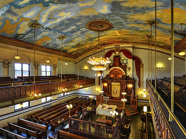 The interior of the Walnut Street Shul in Chelsea