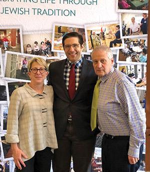From left, Susan Goldsmith, Chair of the Board JGS Lifecare, Adam Berman, President CJL, Barry Berman, CEO CJL.