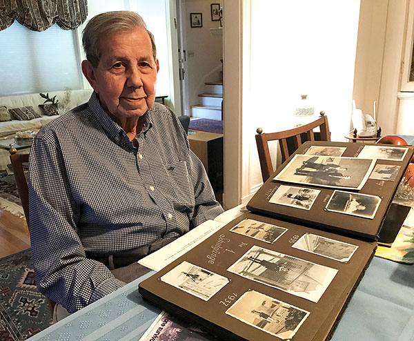 Eric Kahn, of Swampscott, survived Theresienstadt. Photo by Steven A. Rosenberg/Journal Staff