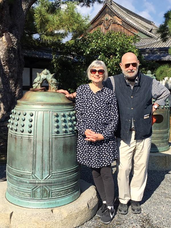 Miriam Weinstein and Peter Feinstein inKyoto, Japan.