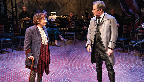 Bobbie Steinbach (as Benjamin Franklin) and Benjamin Evett (as John Adams). Photo by Andy Brilliant/Brilliant Photography