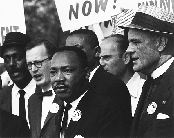 Dr. Martin Luther King Jr. at the civil-rights march in Washington, D.C., on Aug. 28, 1963. Photo: National Archives and Records Administration