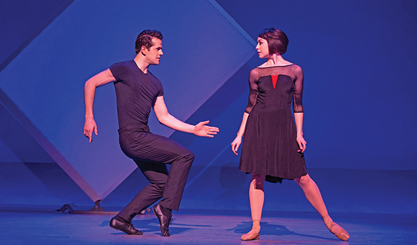 Robert Fairchild and Leanne Cope in 'An American in Paris' at Ogunquit Playhouse.