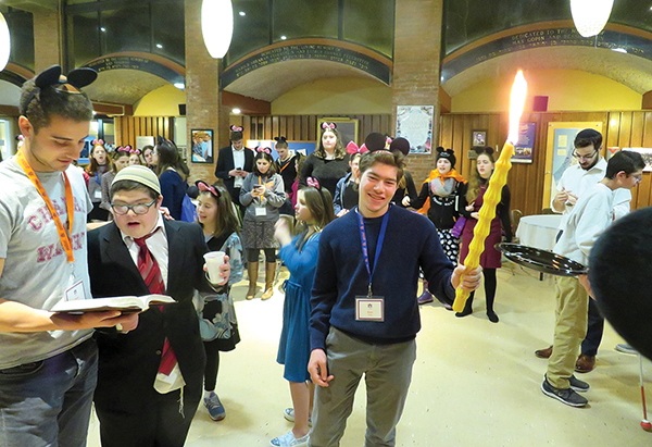 A Havdalah service caps off a Disney-themed shabbaton at the Maimonides School in Brookline.
