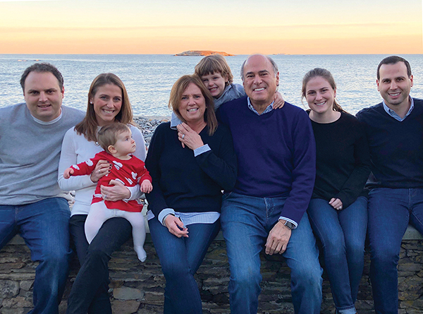 Jim Rudolph, center, with his family.