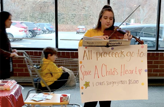 Lila Caplan serenades to raise money for Save A Child's Heart