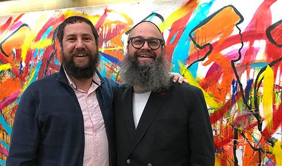 Rabbi Yitzchak Moully and Rabbi Yossi Lipsker