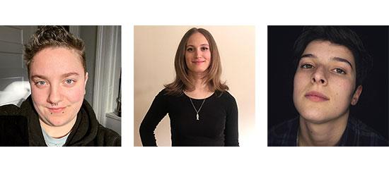 Ashton Rosen, Jenna Comins-Addis and Kegan Jones
