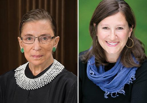 Justice Ruth Bader Ginsburg and  Rabbi Lauren Holtzblatt