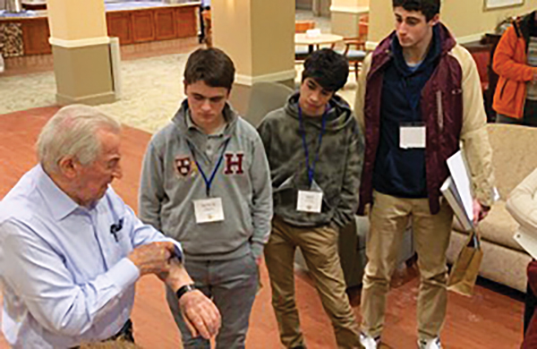 Holocaust Legacy Fellow Teens with David Schaecter, Auschwitz survivor.
