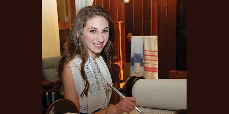 Laci Robbins studying Torah for her bat mitzvah. All photos by Tara Morris Images.