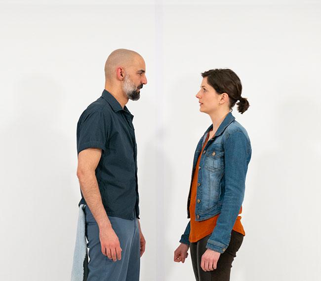 "Nael Nacer and Philana Mia in ""The Return."" Photo: Anna Olivella/Israeli Stage"