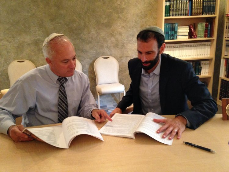 Rabbis David Meyer and Michael Ragozin collaborate on an Israel studies course.