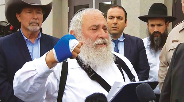 """""""I locked eyes with this terrorist,"""" said Rabbi Yisroel Goldstein, who was wounded in the attack."""