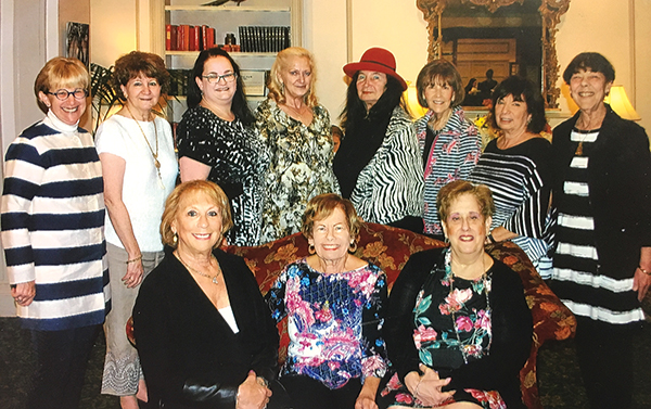Back row (l-r): Myra Gulko, Helen Sneirson, Jennifer Hockert, Aileen Cordette (co-president), Rhonda Preman, Reggie Weinstein, Barbara Gilefsky, Lois Hurwtiz. Front row (l-r): Harriet Perlman, co-chair; Joan Rich, (co-president), Andrea Liftman (co-chair).