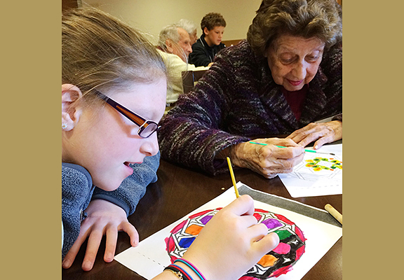 "Since 2002, the ""Mitzvah Makers"" – students at Rashi School in Dedham – have donated their time and compassion to enliven the lives of seniors."