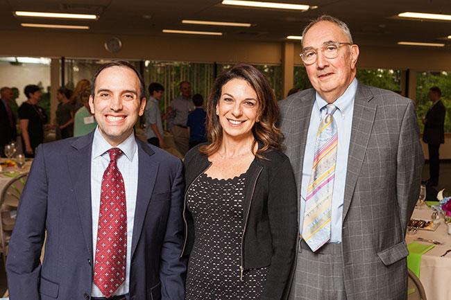 Rabbi Marc Baker, Jamie Grossman, president of the JF&CS Board of Directors and Carl Zack, interim chief executive officer.
