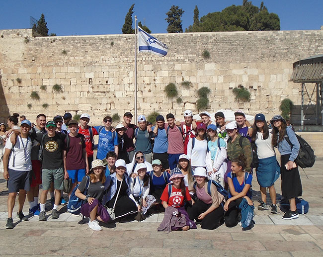 Y2I teens at the Western Wall in Jerusalem.