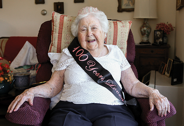 Anastasia Dunau celebrated her 100th birthday on July 16.