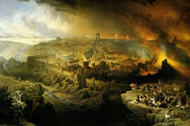 """The Destruction of Jerusalem in 70 AD"" (Louis Haghe)"