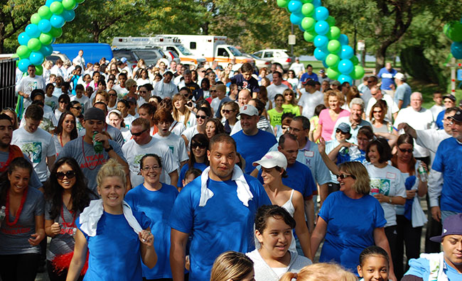The Walk for Living is a two-mile course through Admiral's Hill to support care for individuals living with ALS and MS.
