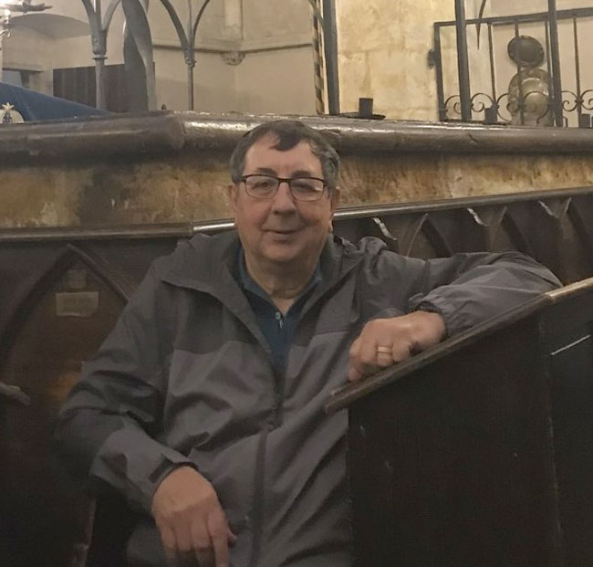 Moshe Roditi visits the Starnova Synagogue in Prague during the recent JCCNS group trip.