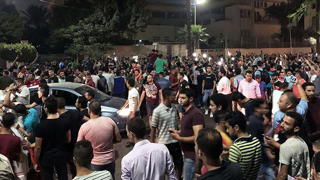 Protesters shouting anti-government slogans gathered in central Cairo last month, resulting in many arrests.