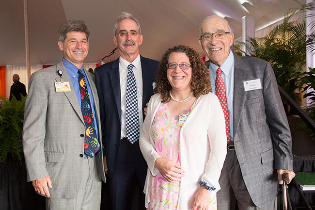 Arthur Epstein (far right) with Dr. Jefferson Prince, Dr. David Roberts and Maria Stacy.
