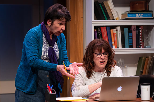 """Maggie Hall Photography Cheryl McMahon and Maureen Keiller in """"Admissions."""""""