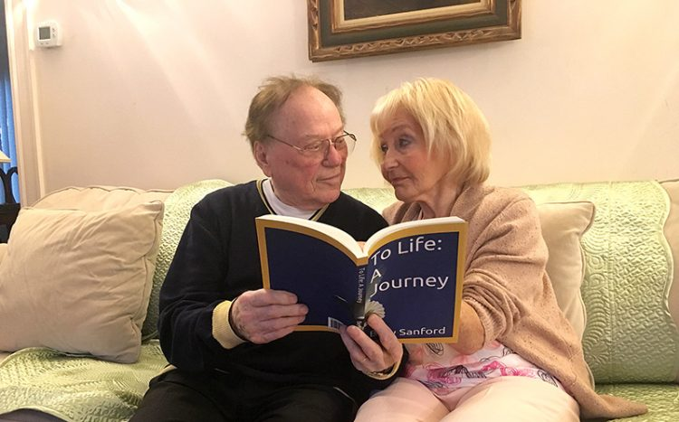 Co-authors Robert and Bery Sanford are just as in love now as they were when the events of their books took place.