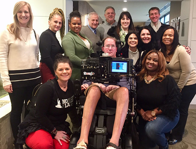 Leonard Florence Center hosts visitors from Team Gleason ALS House in New Orleans.