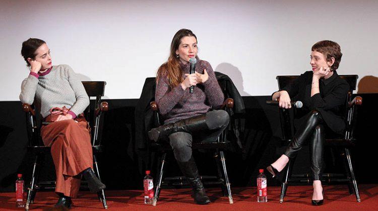 "Israeli ""Shtisel"" actors Hadas Yaron, Neta Riskin, and Shira Haas at Brandeis. Photos: Zach Katz/The Justice"