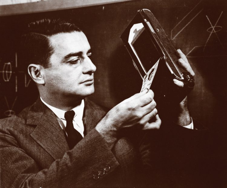 A co-founder of Polaroid, Edwin Land's instant camera went on sale in 1948. Photo: Polaroid