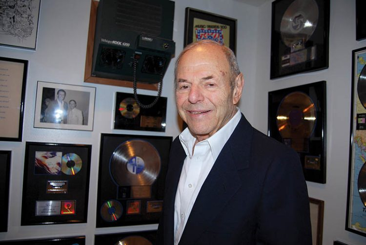 """""""Chelsea is a part of me, it will always be,"""" Joe Smith said during a tour of his gold record collection in his Beverly Hills home. He died this week at the age of 91. Photo: Steven A. Rosenberg/Journal Staff"""