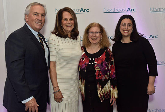 Steven Rosenthal and Jo Ann Simons, with Yachad's Liz Offen and Becca Zeibowitz.