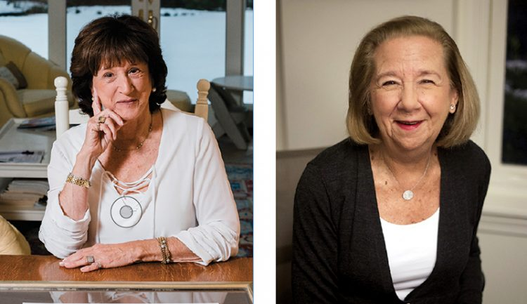 Helaine Hazlett, left, and Phyllis Sagan. Photos: Courtesy Daily Item