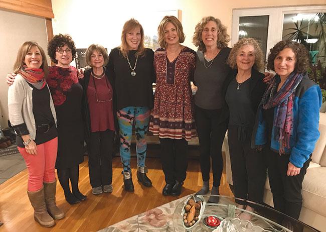 Devorah Feinbloom-Rosenberg, Rebecca Gadon, Jan Gattoni, Ruth Estrich, Layah Lipsker, Gitte Kushner, Mimi Nelson Oliver and Cindy Krowiak. Patricia Kreitzer, Gail Goldstein and Marcia Widmer also took part in the course.
