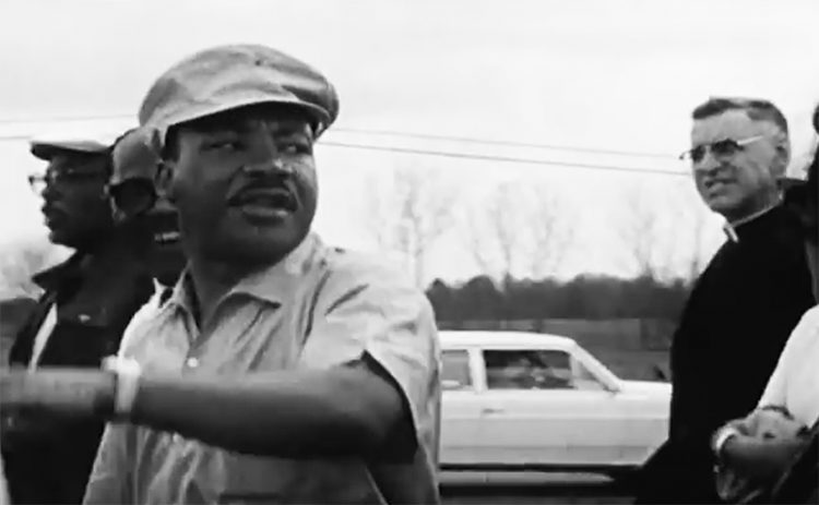 """Martin Luther King marches in the film """"Selma."""""""