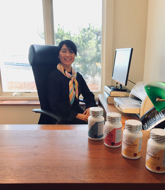 Peipei Wishnow's Salem company Interceuticals combines Western research with Eastern herbal remedies.