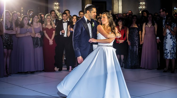 Alyssa Cashman and Adam Frank enjoy a first dance at the Royal Sonesta Boston in Cambridge on October 27. Photos: Eric McCallister Photography