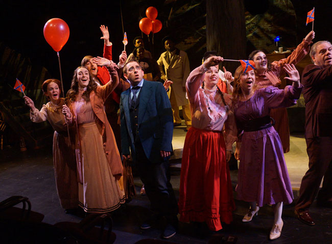 """Mob mentality and anti-Semitism rule the day in Moonbox Productions' """"Parade,"""" a musical about the falsely accused Leo Frank."""
