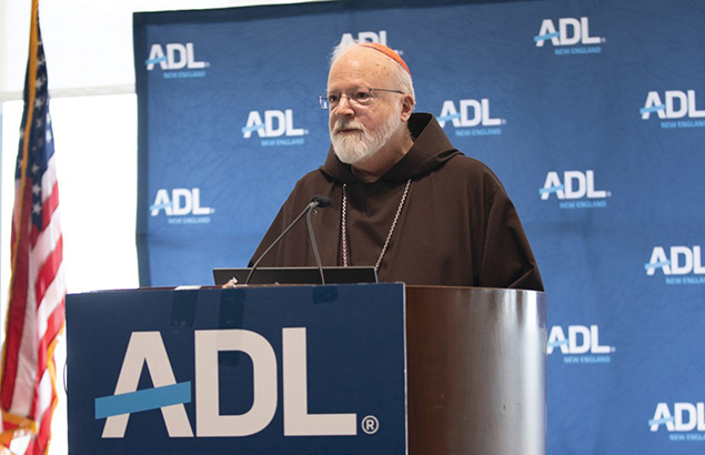 Cardinal Seán O'Malley spoke at ADL's 'Nation of Immigrants' Seder.