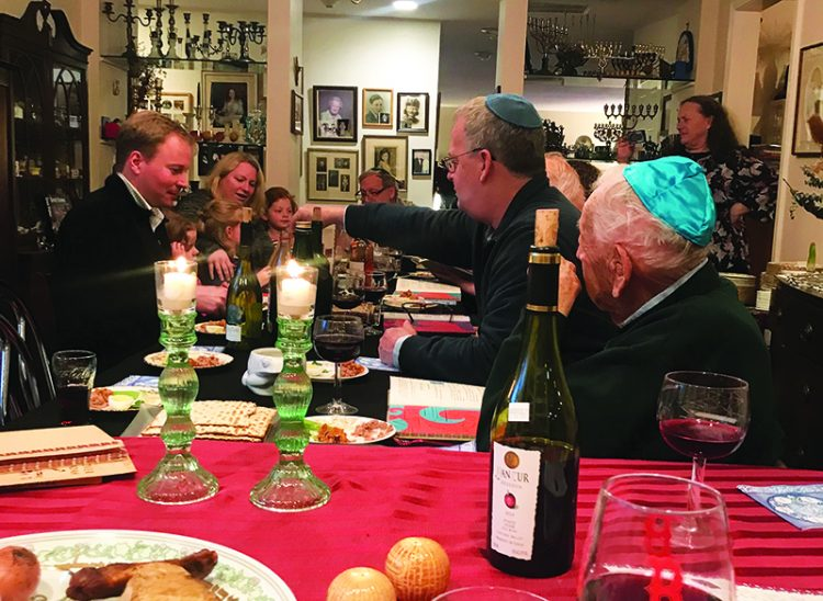 Usually, Ellen and Larry Lodgen of Marblehead have a full Seder. This year, like many others, they will conduct their Seder through Zoom.