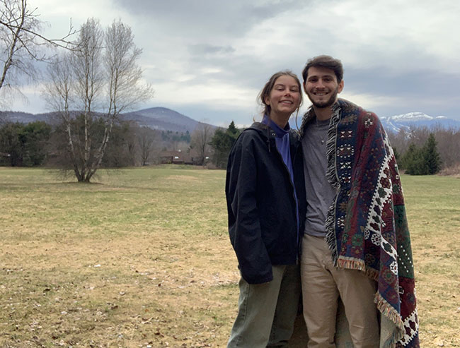 """I was really on the couch almost the entire day for about seven days straight,"" said Jeremy Silver, pictured here with his girlfriend, Claire Schnadig. The couple came down with the virus shortly after returning from Switzerland."