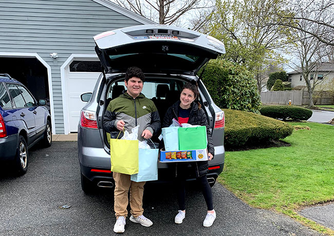 Aidan and Lucy New, sophomores at Marblehead High School, served as project leaders.