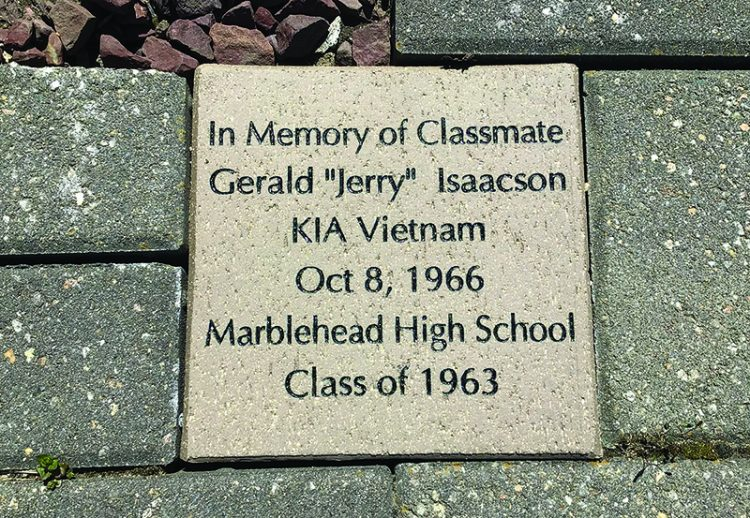 A memorial brick was laid for Jerry Isaacson at Maple Hill Cemetery in Peabody.